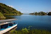 Beautiful scenery on Lake Nicaragua or Cocibolca in Nicaragua