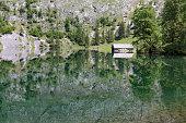 Lake Obersee in Bavaria, Germany, in summer