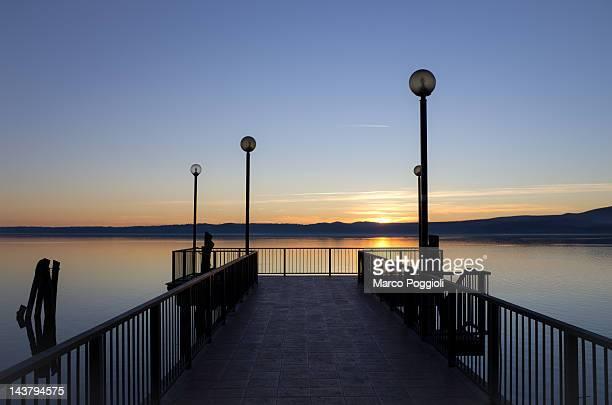 Lake of Bracciano Pier, Italy