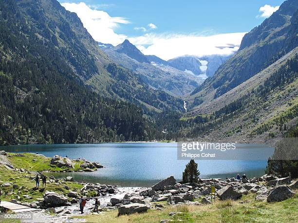 Lake of Gaube, Pyrenees, France.