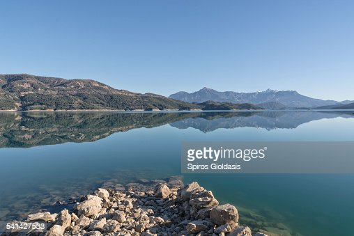 Lake of Kremasta : Bildbanksbilder