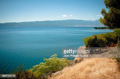 Lake Ohrid in Summer, Republic of Macedonia