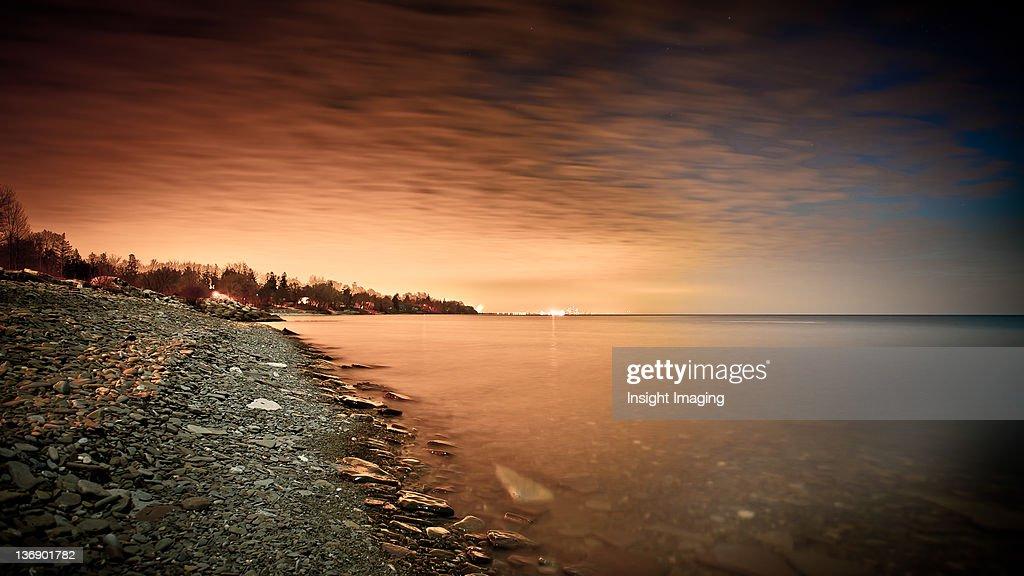 Lake Ontario city lights