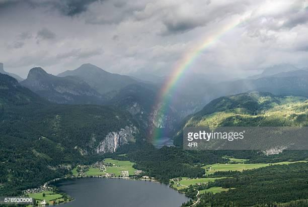 Lake Panorama Ausseerland, Grundlsee, Toplitzsee, Stunning Rainbow