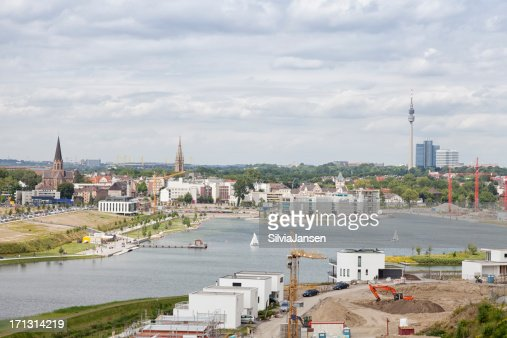 lake phoenix and Dortmund cityscape