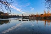 French lake in spring