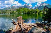 Lake in Tatra Mountains, Slovakia