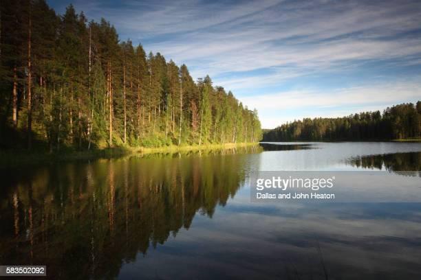 Lake Pihlajavesi landscape at Punkaharju nature reserve, Saimaa Lake District
