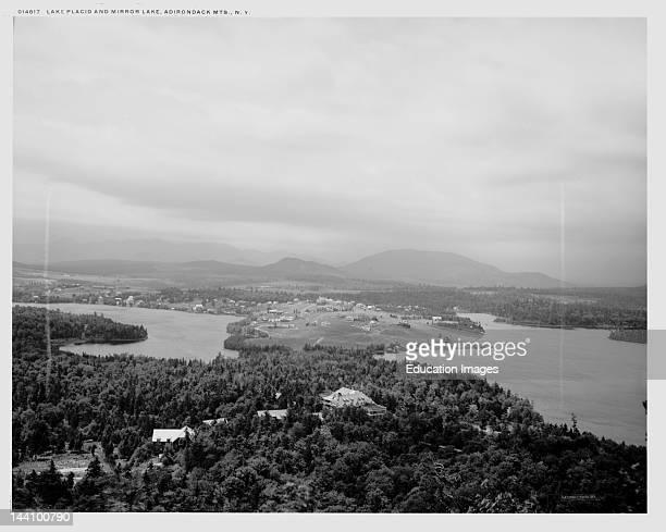 Lake Placid And Mirror Lake Adirondack Mts NY [1902] William Henry Jackson 18431942 Photographer