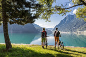 Lake Poschiavo view, Switzerland