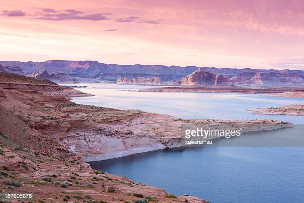 Lake Powell at dusk