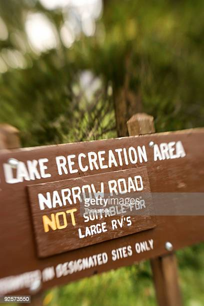 Lake recreation area sign