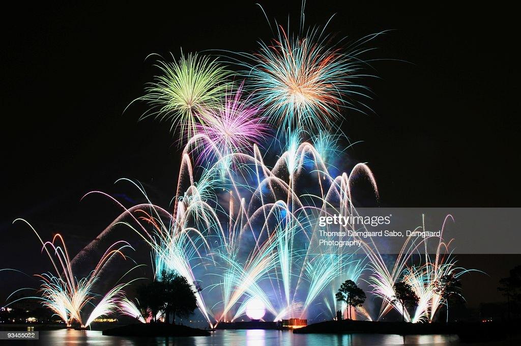 Lake Reflected Fireworks