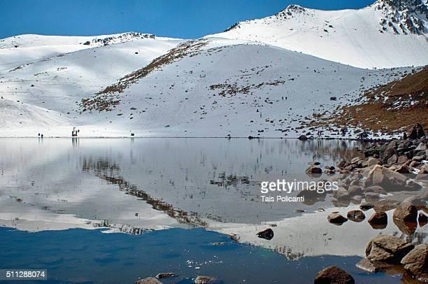 Lake reflection of the Nevado de Toluca in Mexico.