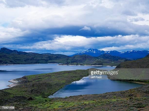 Lake Sarmiento de Gamboa, Chile. Torres del Paine NP, Patagonia
