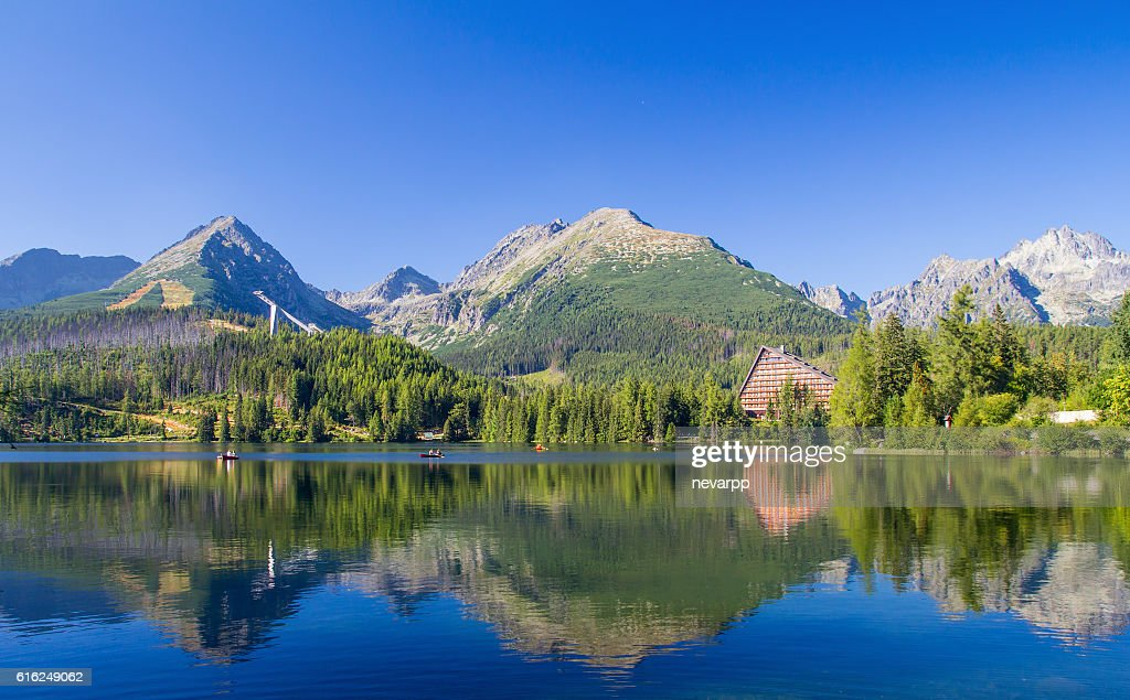 lake scenery landscape in high tatras : Stock Photo