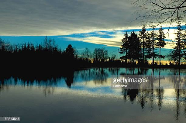 Lake Silhouette and Reflection