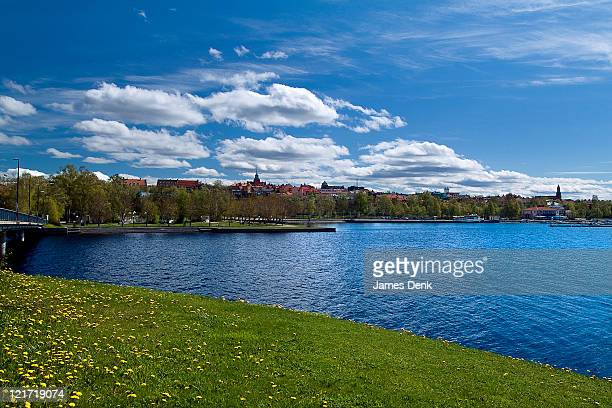 Lake Storsjon and the City of Ostersund in Jamtland, Sweden