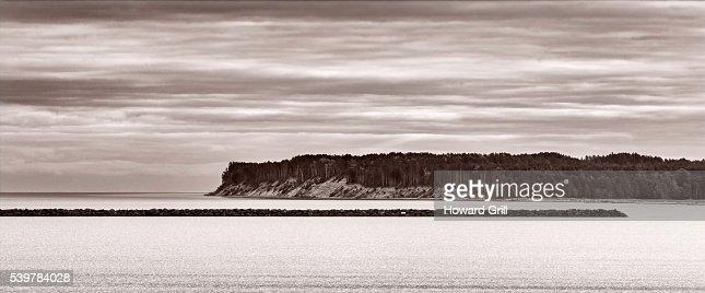 Lake Superior From Grand Marais, Michigan Panorama