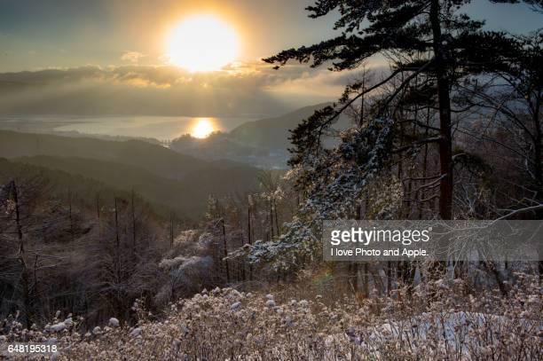 Lake Suwa morning view