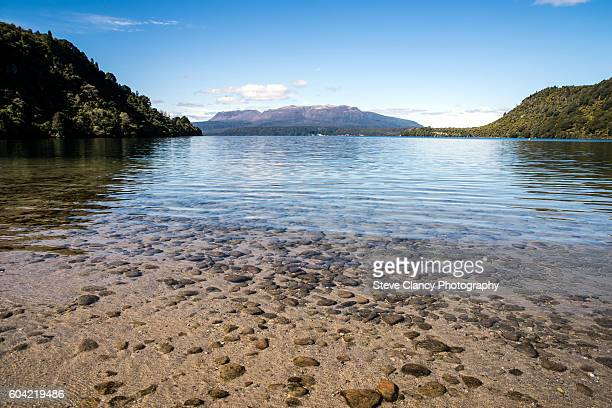 Lake Tarawera and Mount Tarawera.