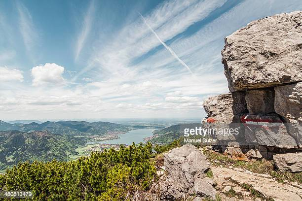 Lake Tegernesee from Mt Wallberg, Bavaria, Germany