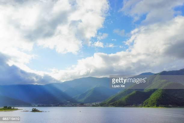 Lake under sunshine