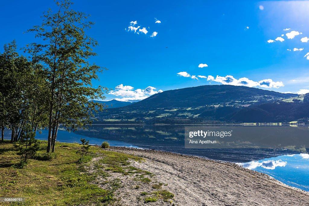 Lake Vangsvatnet, Voss : Stock Photo