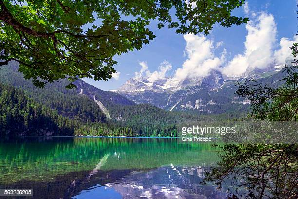 Lake view in South Tyrol Italy