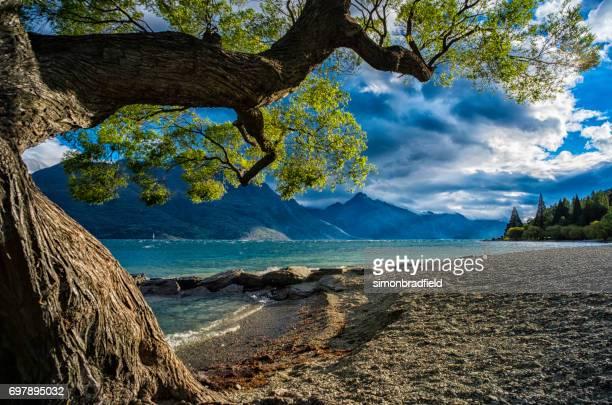 Lake Wakatipu On New Zealand's South Island