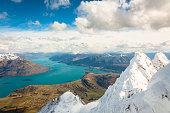 Lake Wakatipu seen from The Remarkables range.