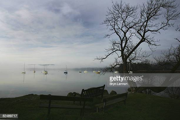 Lake Windermere lies quiet after a 10 mph speed limit was imposed at midnight on March 29 2005 in Bowness On Windermere England The speed limit has...