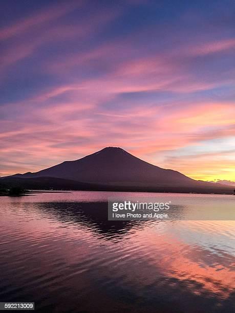 Lake Yamanaka sunset