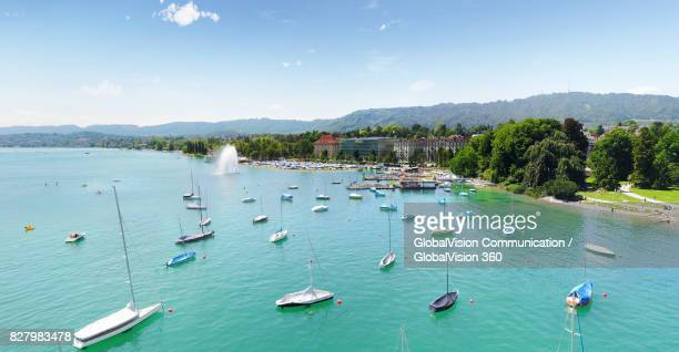 Lake Zurich and the Harbor in Summertime