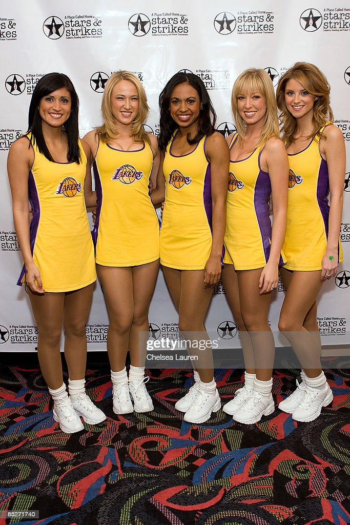 Laker Girls attend the 3rd Annual Stars Strikes Celebrity Bowling and Poker Tournament at PINZ on March 5 2009 in Studio City California