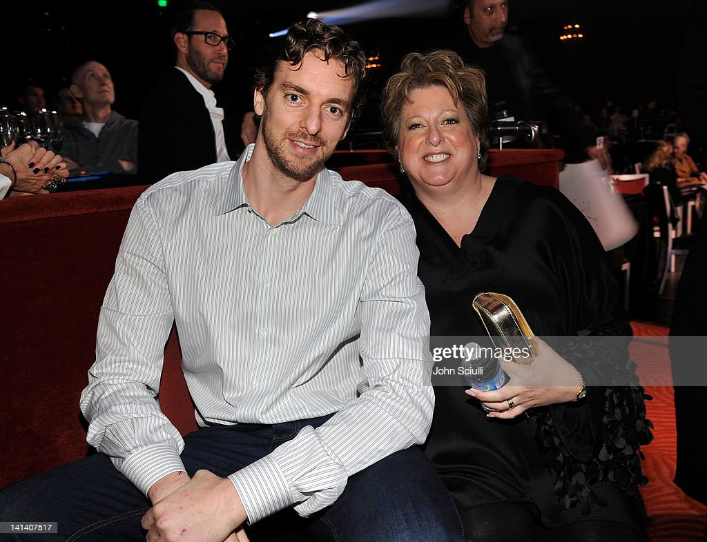Laker Pau Gasol and US Fund for UNICEF President CFO Caryl Stern attend UNICEF Playlist With The AList at El Rey Theatre on March 15 2012 in Los...