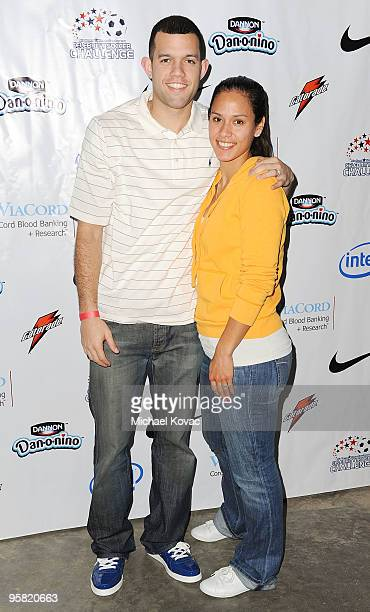 Lakers player Jordan Farmar and fiancee soccer player Jill Oakes participate in the 3rd Annual Mia Hamm Nomar Garciaparra Celebrity Soccer Challenge...