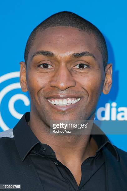 Lakers player Metta World Peace attends the Time Warner Cable Media 'View From The Top' Upfront at Vibiana on June 19 2013 in Los Angeles California