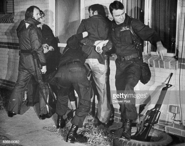 Lakewood Colorado Police Department Lakewood Agents Handcuff Richard Hamling in Light Pants AfterHis Surrender The 42yearold Lakewood man armed with...