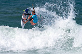 Lakey Petterson of the United States surfs during the Round 3 of the Oi Rio Pro on May 16 2015 in Rio de Janeiro Brazil