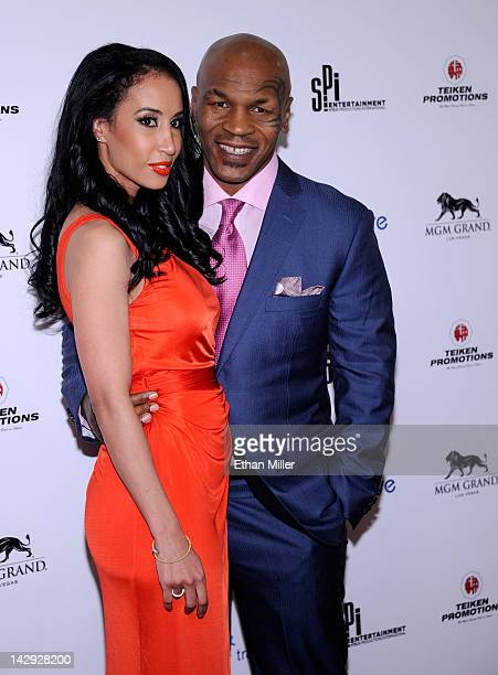 Lakiha 'Kiki' Tyson and her husband Mike Tyson arrive at the grand opening of Mike Tyson's oneman show 'Mike Tyson Undisputed Truth Live on Stage' at...