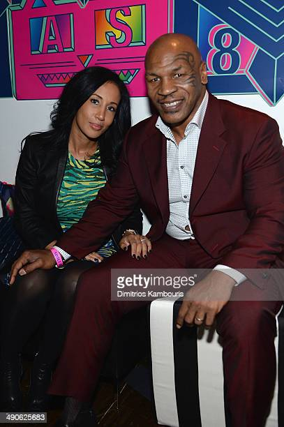 Lakiha Spicer and Mike Tyson attend the Adult Swim Upfront Party 2014 at Terminal 5 on May 14 2014 in New York City 24748_002_0219JPG