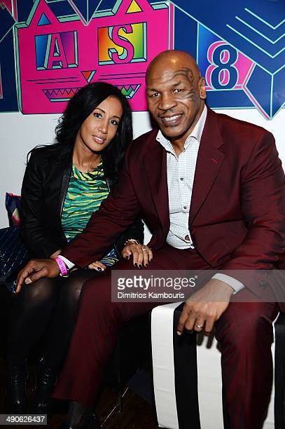 Lakiha Spicer and Mike Tyson attend the Adult Swim Upfront Party 2014 at Terminal 5 on May 14 2014 in New York City 24748_002_0218JPG