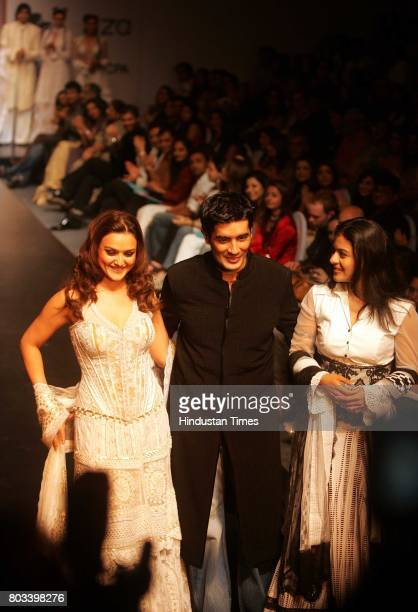 Lakme Fashion Week Manish Malhotra with Kajol and Preity Zinta
