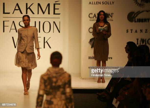 Lakme Fashion Week Models walk to the sound of silence and a recital of literature at Narendra Kumar Ahmed's Show on Day 4 of the Lakme Fashion Week