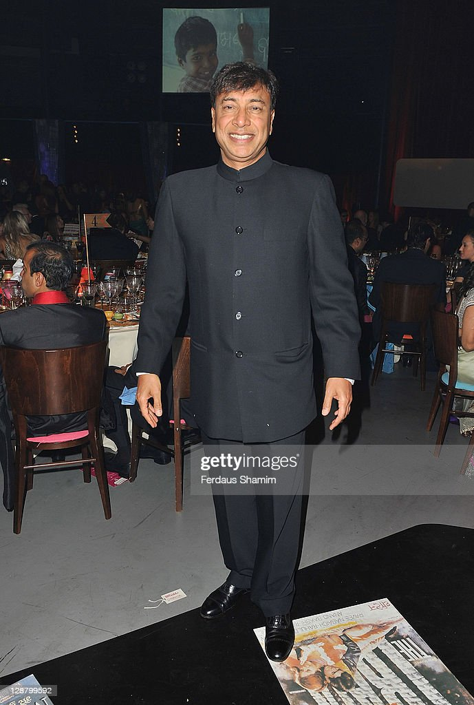 Lakshmi Mittal attends Pratham UK ARTiculate Gala at The Roundhouse on October 8 2011 in London England