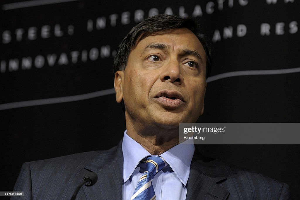 Lakshmi Mittal chief executive officer of ArcelorMittal speaks during the Steel Success Strategies Conference in New York US on Tuesday June 21 2011...