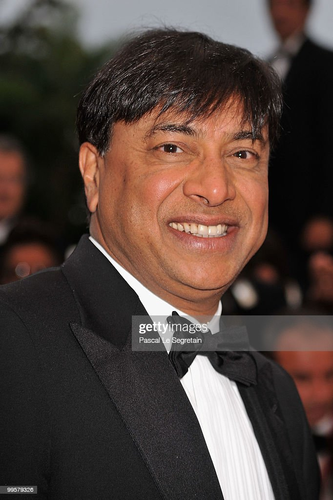 Lakshmi Niwas Mittal attends the 'You Will Meet A Tall Dark Stranger' Premiere at the Palais des Festivals during the 63rd Annual Cannes Film...