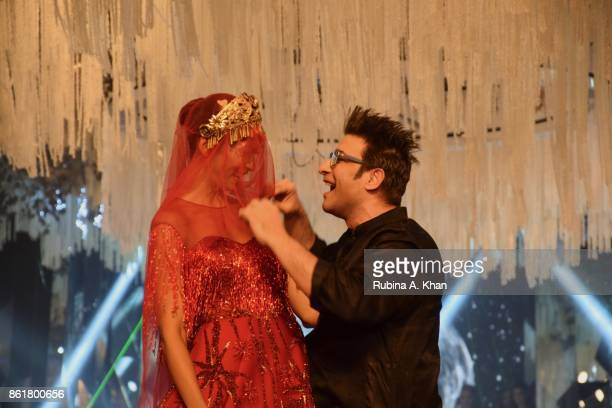 Lakshmi Rana and Suneet Varma at the grand finale of the Fashion Design Council of India's 30th edition of India Fashion Week Spring Summer 2018 held...