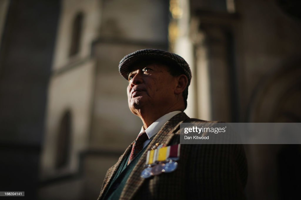 Lal Bahadur Gurung, a Gurkha Sergeant stands outside the High Court on December 11, 2012 in London, England. Members of the Gurkha community in the UK are continuing their fight for their children to settle in Britain despite losing a test-case at the high court in June 2012, when four adult children of Nepalese fighters were refused the right to settle in the UK.